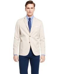 Бежевый хлопковый пиджак