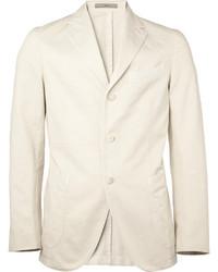 Мужской бежевый хлопковый пиджак от Boglioli