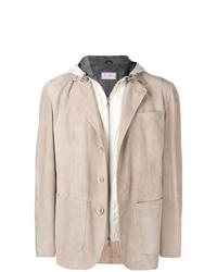 Мужской бежевый хлопковый пиджак от Brunello Cucinelli