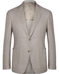 Мужской бежевый хлопковый пиджак от Canali