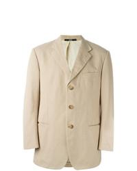 Мужской бежевый хлопковый пиджак от Gianfranco Ferre Vintage