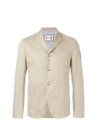 Мужской бежевый хлопковый пиджак от Moncler Gamme Bleu