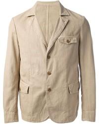 Мужской бежевый хлопковый пиджак от Montedoro