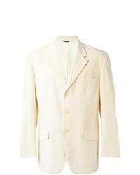 Мужской бежевый хлопковый пиджак от Moschino Vintage