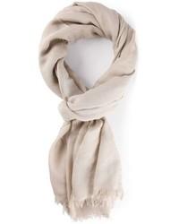 Бежевый хлопковый шарф