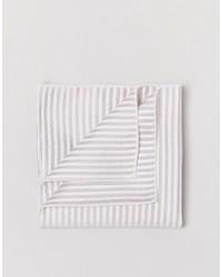 Мужской бежевый шелковый нагрудный платок в горизонтальную полоску от Selected