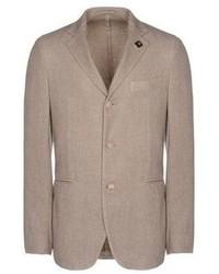 Бежевый шерстяной пиджак