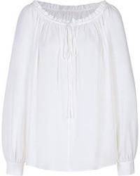 Белая блуза-крестьянка