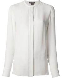 Белая блуза на пуговицах