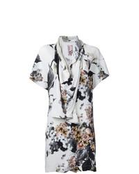 Белая блуза с коротким рукавом с принтом от Antonio Marras