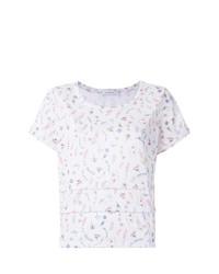 Белая блуза с коротким рукавом с принтом от Olympiah