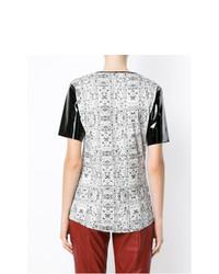 Белая блуза с коротким рукавом с принтом от Tufi Duek