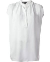 Белая блуза с коротким рукавом