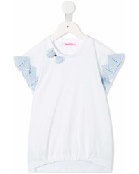 Детская белая блуза с коротким рукавом для девочке от Familiar