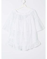 Детская белая блуза с коротким рукавом для девочке от Elsy