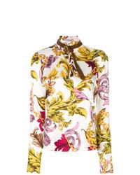 Белая блузка с длинным рукавом с принтом от JW Anderson