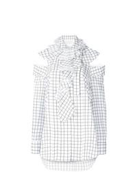 Белая блузка с длинным рукавом с принтом от Monse