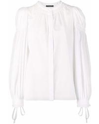 Белая блузка с длинным рукавом от Alexander McQueen