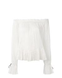 Белая блузка с длинным рукавом от Etro