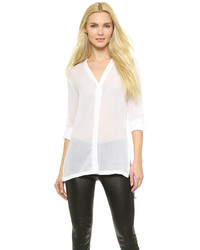 Белая блузка с длинным рукавом от Helmut Lang