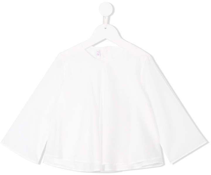 Детская белая блузка с длинным рукавом для девочке от Il Gufo