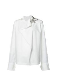 Белая блузка с длинным рукавом от Marni