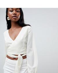 Белая блузка с длинным рукавом от Parallel Lines