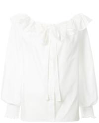 Белая блузка с рюшами от Marc Jacobs