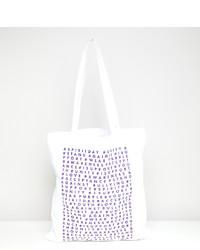 Мужская белая большая сумка из плотной ткани с принтом от ASOS DESIGN