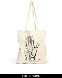 Мужская белая большая сумка из плотной ткани с принтом от Reclaimed Vintage