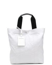 Мужская белая большая сумка из плотной ткани от Maison Margiela