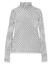 Женская белая вязаная водолазка от Beaufille