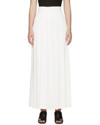 Белая длинная юбка со складками от Nomia