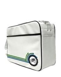 Белая дорожная сумка из плотной ткани