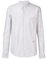 Мужская белая классическая рубашка в вертикальную полоску от Ami Paris