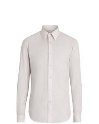 Мужская белая классическая рубашка в вертикальную полоску от Burberry