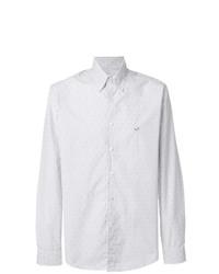 Мужская белая классическая рубашка в вертикальную полоску от Etro