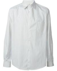 Мужская белая классическая рубашка в вертикальную полоску от Golden Goose Deluxe Brand