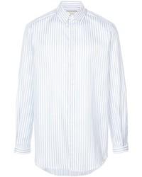 Мужская белая классическая рубашка в вертикальную полоску от Gucci
