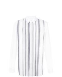 Мужская белая классическая рубашка в вертикальную полоску от Maison Margiela