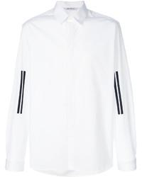 Мужская белая классическая рубашка в вертикальную полоску от Neil Barrett