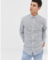 Мужская белая классическая рубашка в вертикальную полоску от ONLY & SONS