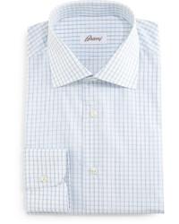 Белая классическая рубашка в клетку