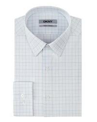 Белая классическая рубашка в шотландскую клетку