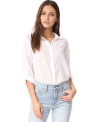 Белая классическая рубашка со звездами