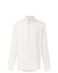 Мужская белая классическая рубашка с принтом от AMI Alexandre Mattiussi