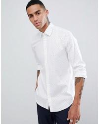 Мужская белая классическая рубашка с принтом от Esprit