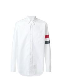 Мужская белая классическая рубашка с принтом от Thom Browne
