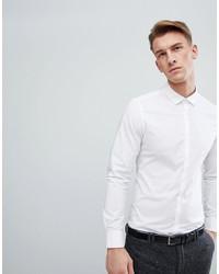 Мужская белая классическая рубашка от ASOS DESIGN