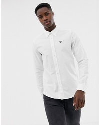 Мужская белая классическая рубашка от Barbour Beacon